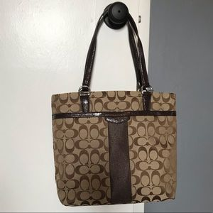 Coach signature canvas tote